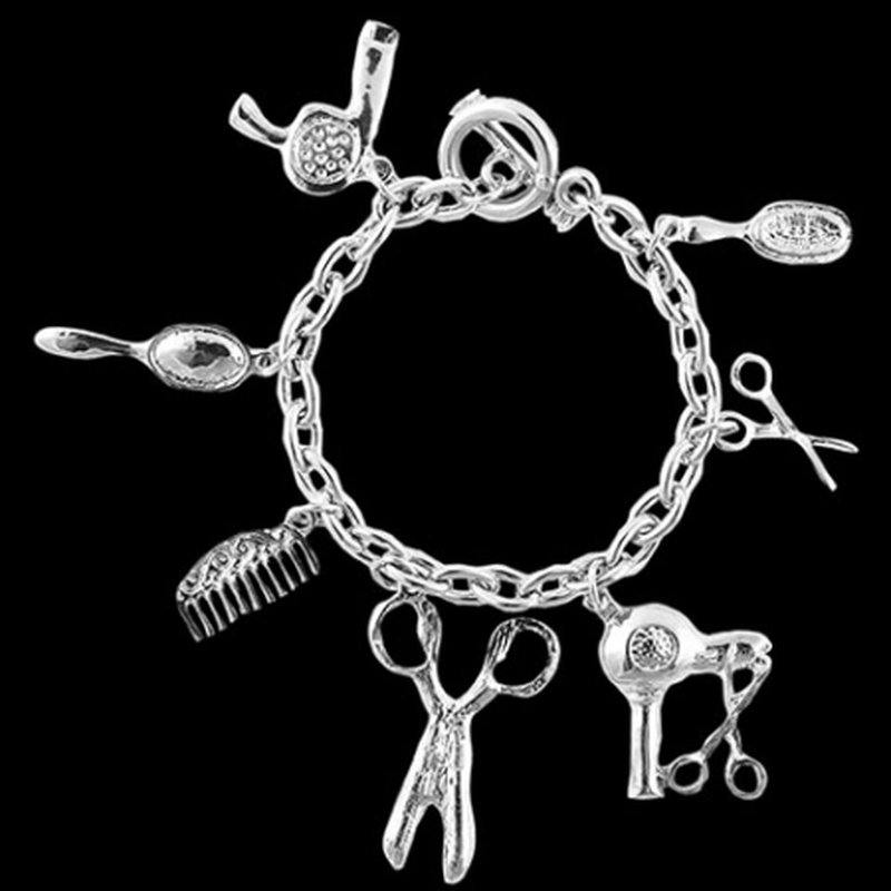 Image of A&A Armband mit Anhänger Friseurutensilien