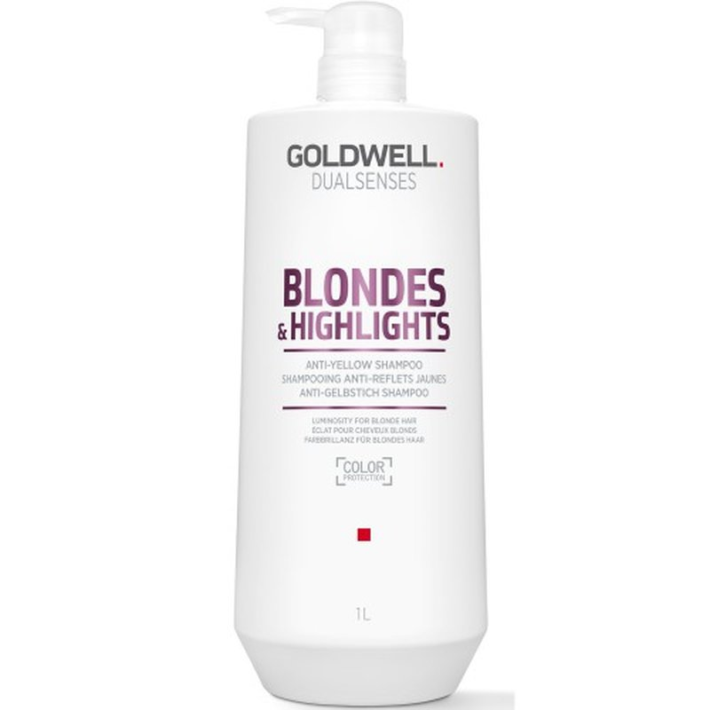Image of Goldwell Dualsenses Blondes & Highlights Anti-Yellow Shampoo 1000ml