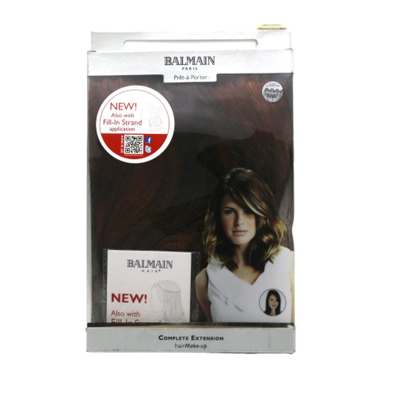 Image of Balmain Hair Make-up 25cm warm caramel Complete Extensions Clip