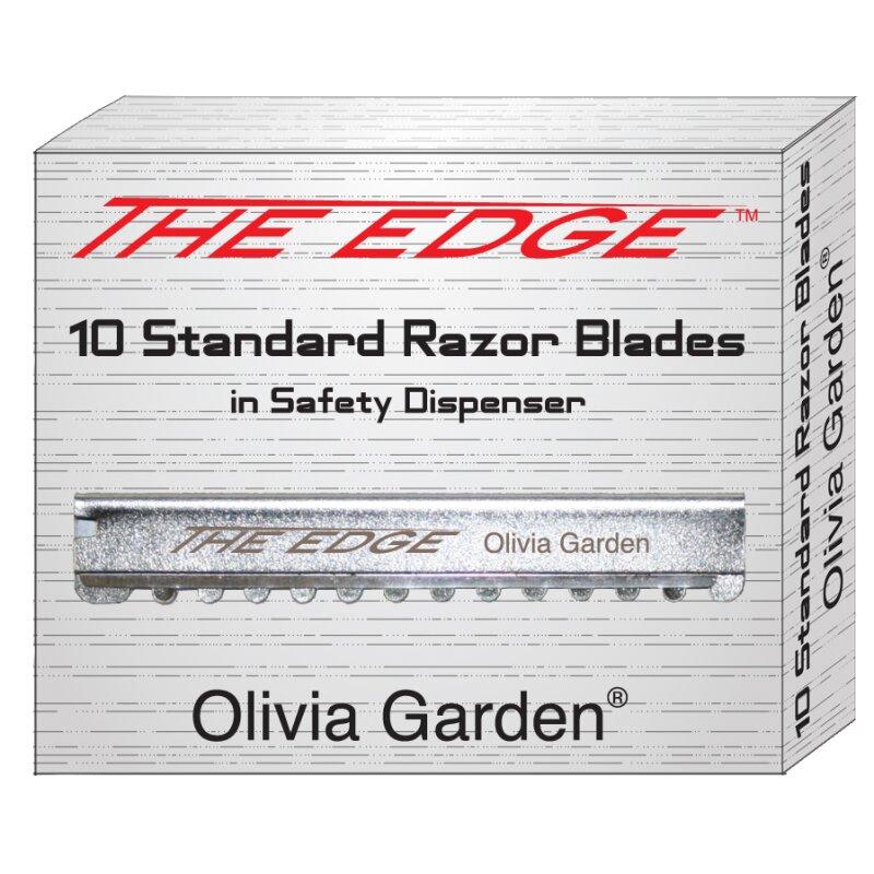 Image of Olivia Garden Ersatzklingen 10 Stück für Rasiermesser The Edge