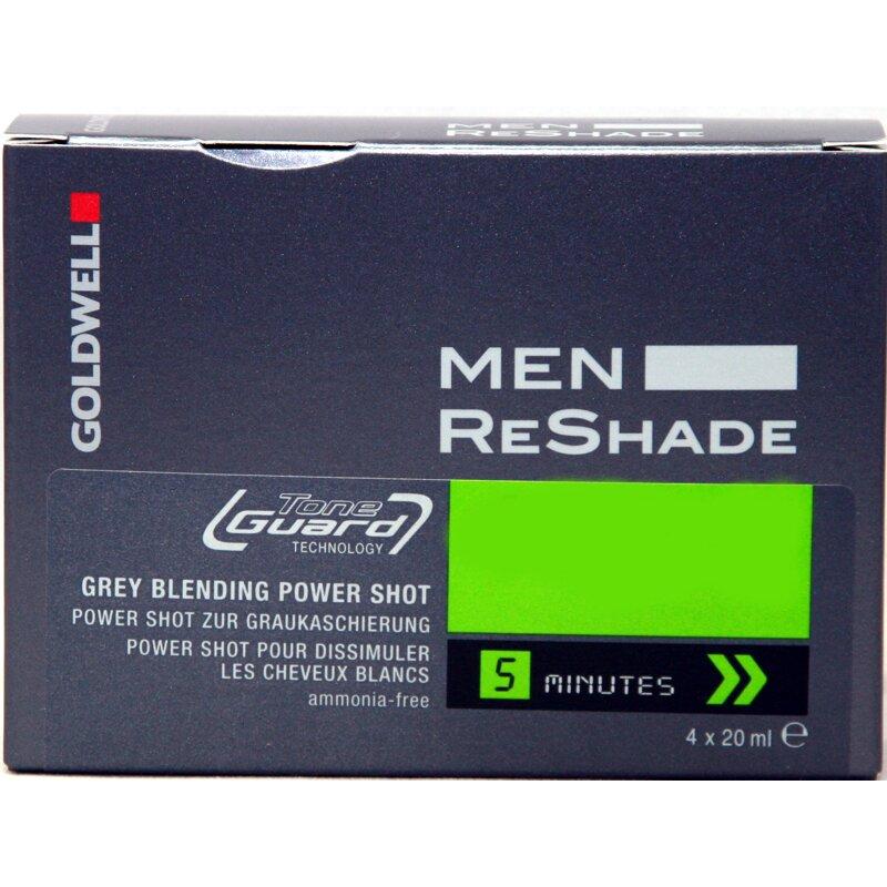 Image of Goldwell Men Reshade Power Shot 4CA mittel aschbraun 4x20 ml.